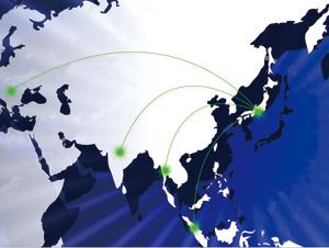 日本から世界に躍進するイメージ